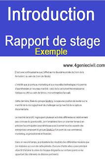 Exemple d'introduction d'un rapport de stage | Cours génie ...