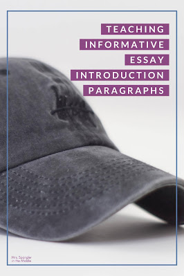 Find out how I use a hat to teach my middle school students how to write an informative essay introduction paragraph!