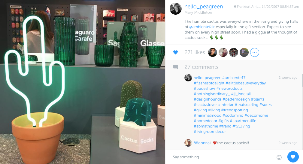 Instagram, My Week in Instagram, hellopeagreen, interiors blogger, trade shows