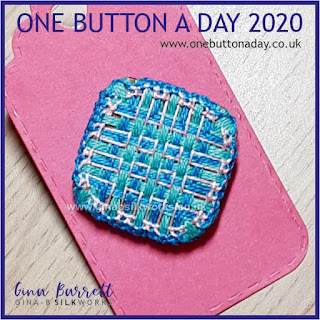 One Button a Day 2020 by Gina Barrett - Day 102 : Plaid