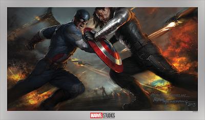 Captain America: The Winter Soldier Marvel Studios Fine Art Giclee Print by Ryan Meinerding x Grey Matter Art
