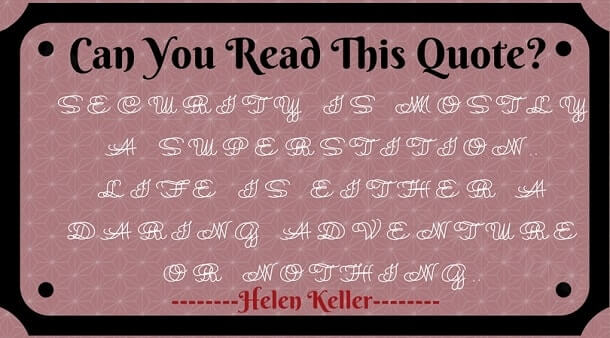 Double Vision Reading challenge