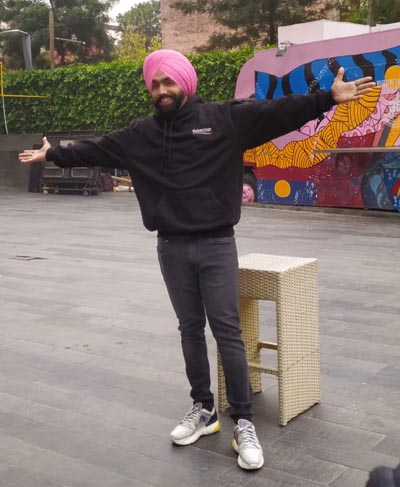 Ammy Virk during Promotion of Song in Chandigarh