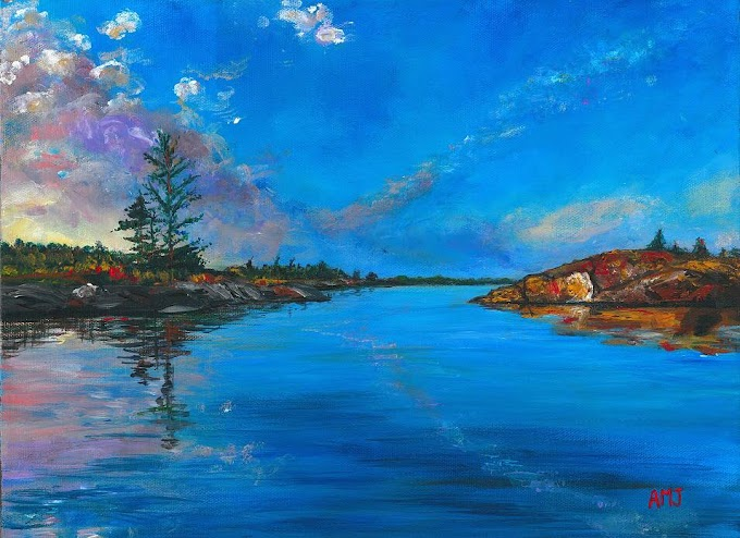 Georgian Bay sunset - Original Painting