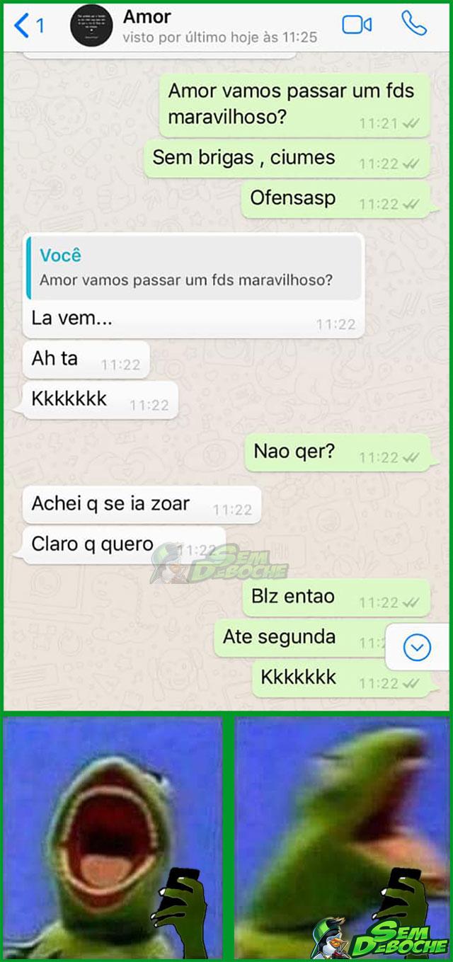 AMOR, QUER PASSAR UM FINAL DE SEMANA MARAVILHOSO?!