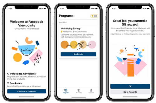 Facebook New App Will Pay You Real Money to Participate in Surveys