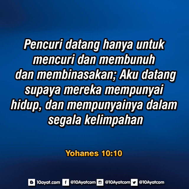 Yohanes 10:10