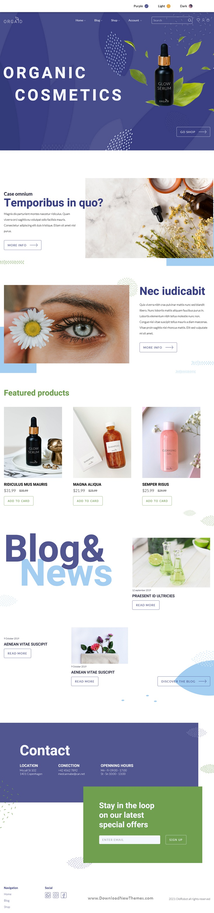 Organic Cosmetics & Beauty Shop Responsive Theme