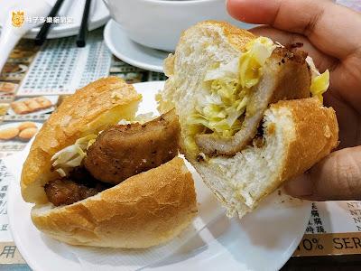 香港茶水攤-延,豬排包