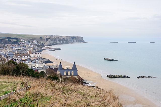 Arromanches les-Bains port, Normandy, France