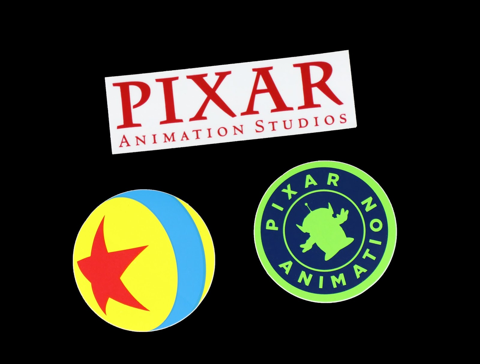 pixar ball animation studios stickers