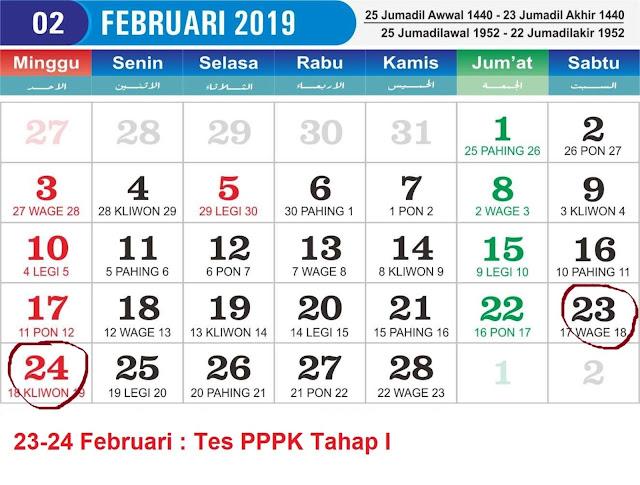 Jadwal Detail, Tanggal dan Tahapan Rekrutmen PPPK 2019