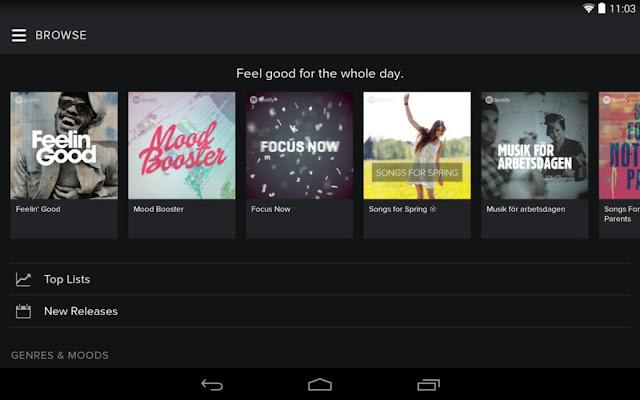 تحميل تطبيق Spotify Music v5.8 Mod APK المدفوع معدل مجانا للاندرويد