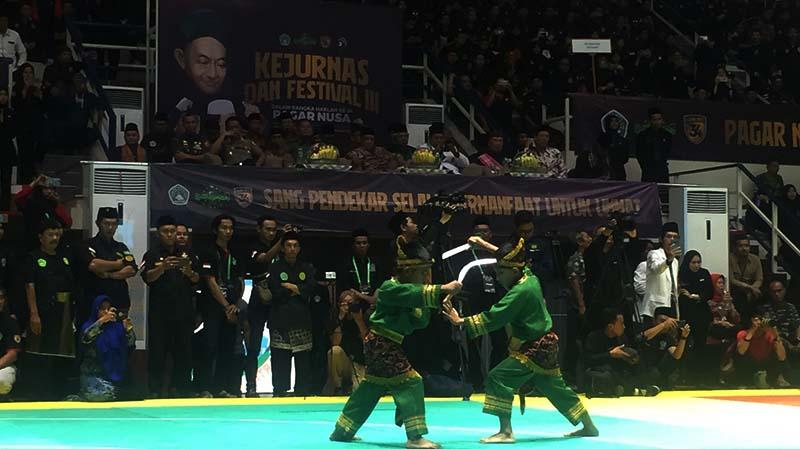 Pembukaan Kejurnas dan Festival Pencak Silat Pagar Nusa di TMII