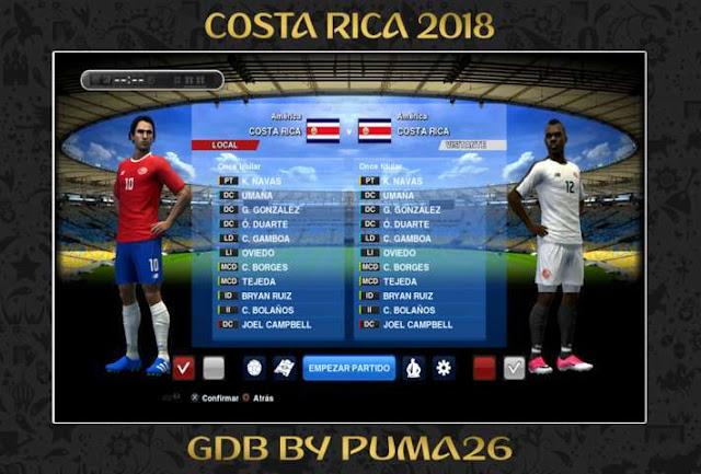 Costa Rica 2018 Kit PES 2013