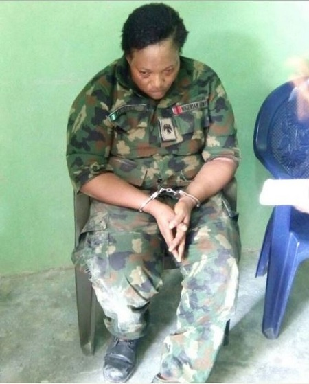 Fake Female Military Officer with Three Suspected Suicide Bomber Kids Arrested in Abuja (Photo