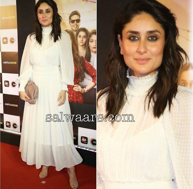 Kareena Kapoor White Self Design Salwar