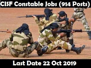 914 Tradesmen Jobs In CISF