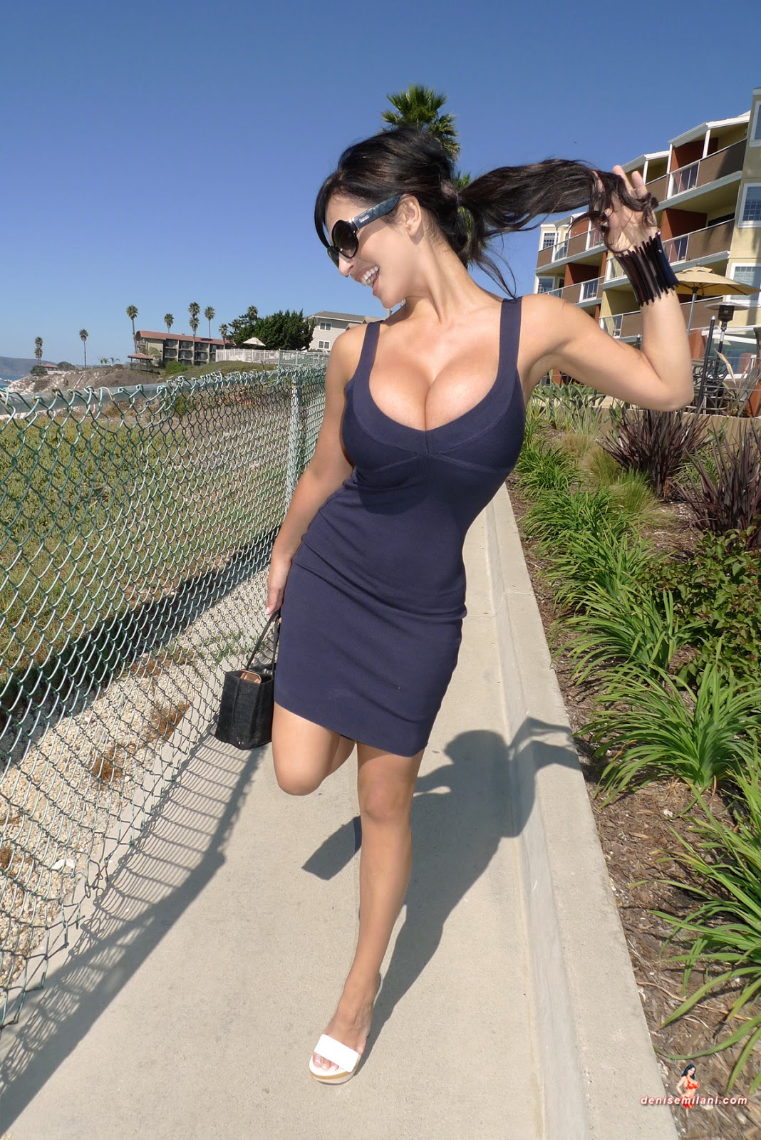 denise milani in a dress - photo #24