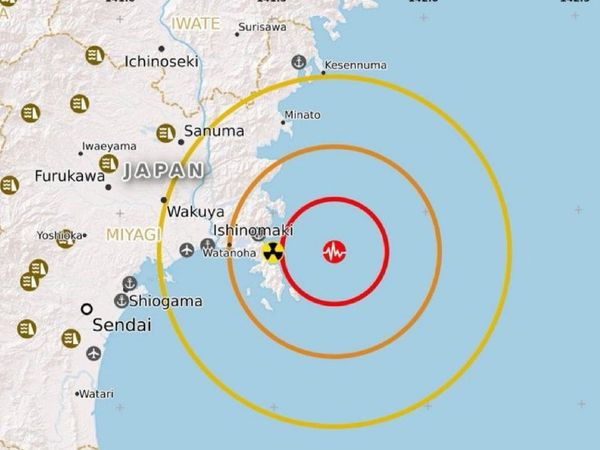 Tsunami after 10 years in Japan - 7.2 magnitude earthquake in Miyagi