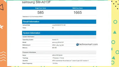 Samsung Galaxy A01e Found On Geekbench Reportedly, Key Specifications Renders Online