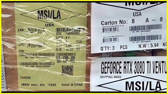 GeForce RTX 3080 Ti Ventus 3X 12G OC is details revealed