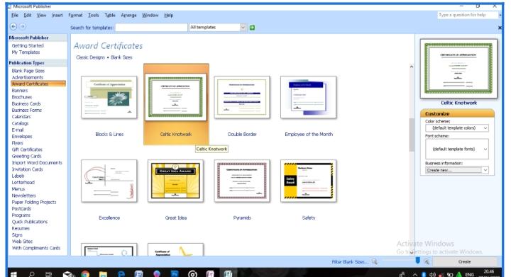 Cara Buat Desain Sertifikat Pakai Microsoft Publisher