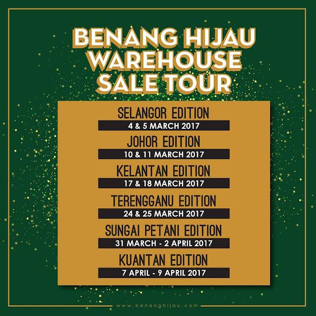 warehouse sale benang hijau