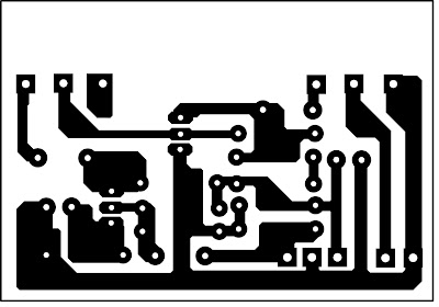 Layout PCB efek gitar Grease Box Pedal Board
