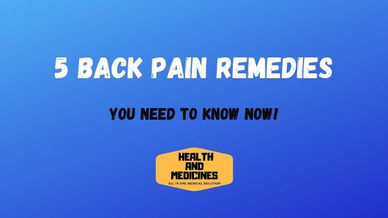 Back Pain Remedies