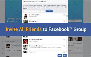 اضافة كل اصدقائك على الفيس بوك الى جروبك