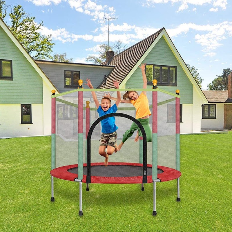 60% OFF  5FT Kids Trampoline with Enclosure Net