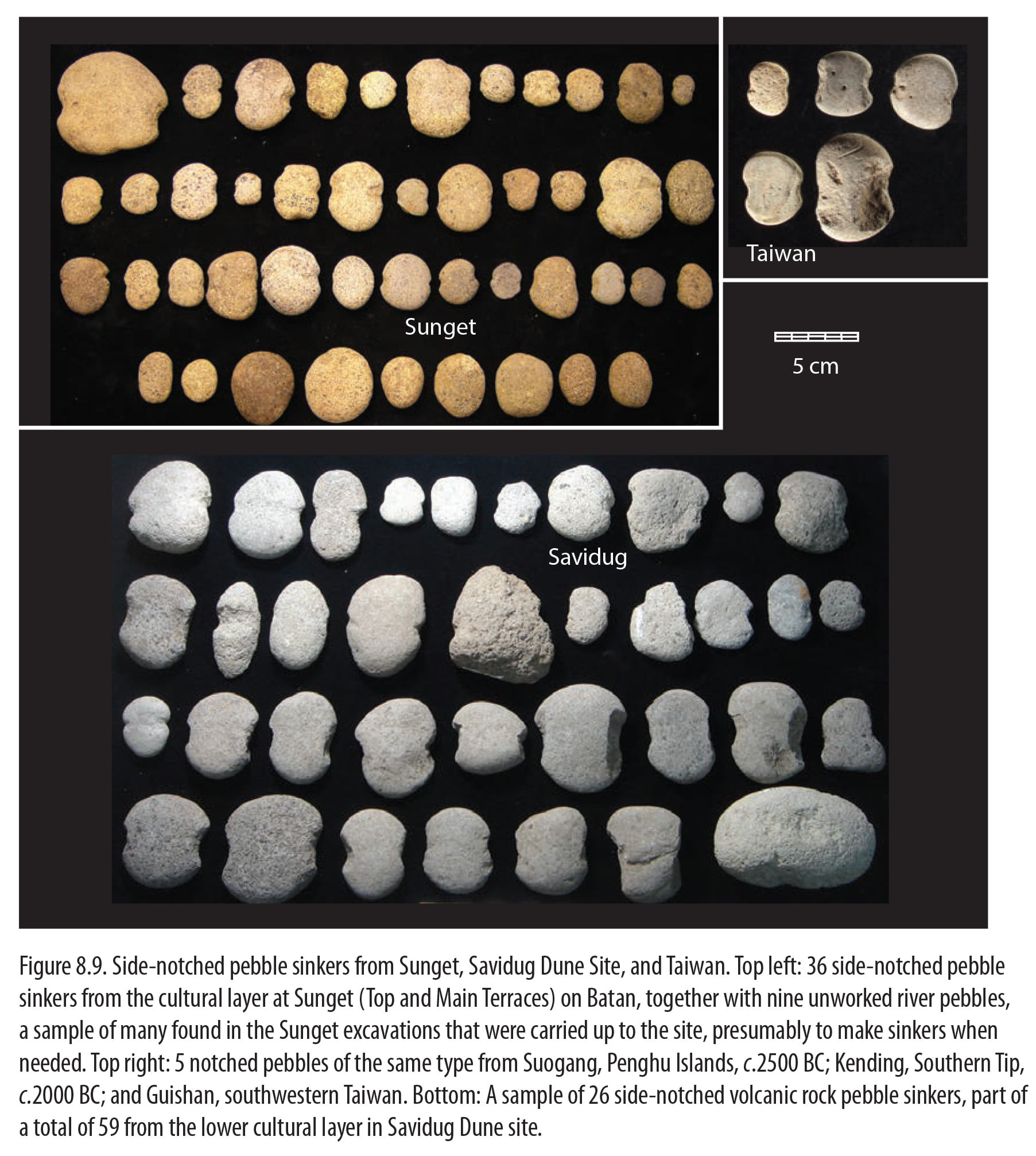 Comparison of stone sinkers from Batanes and Taiwan
