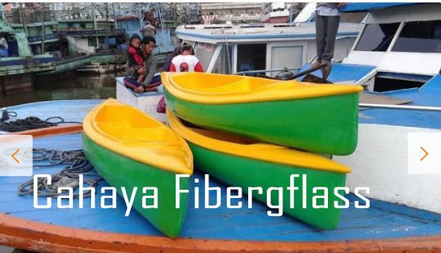 perahu kano fiberglass