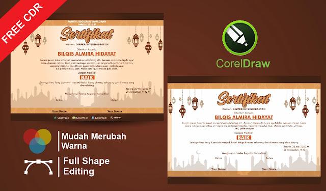 Sertifikat Kegiatan Ramadhan CorelDraw