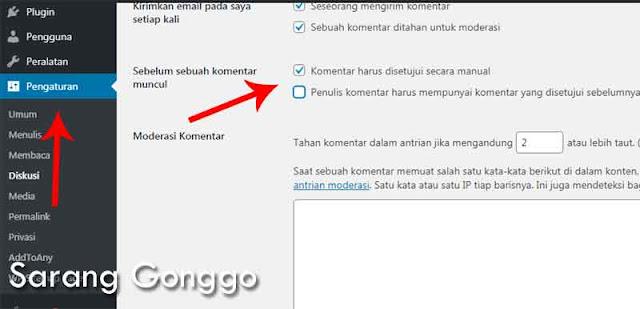 cara menghilangkan komentar spam