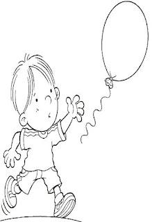 Brincadeiras crianças-balão