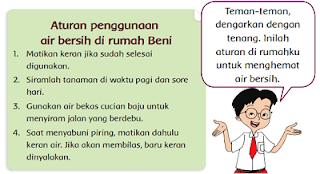 Aturan penggunaan air bersih di rumah Beni www.jokowidodo-marufamin.com