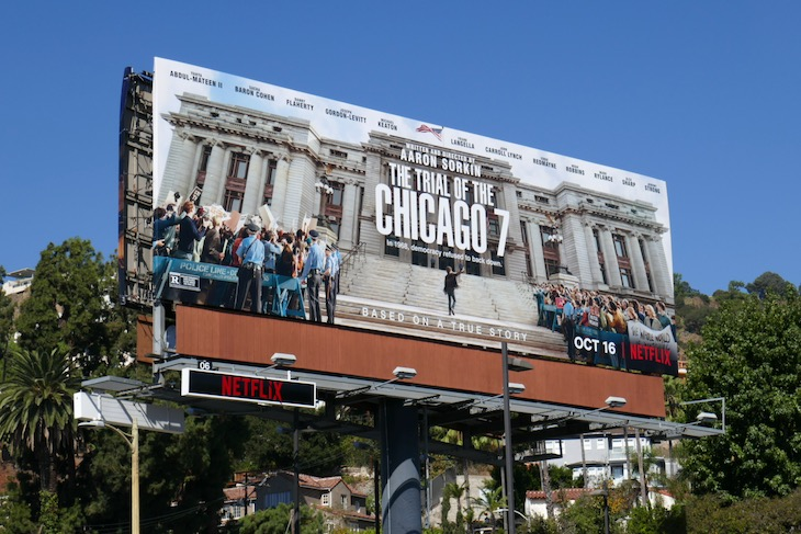 Trial of Chicago 7 film billboard