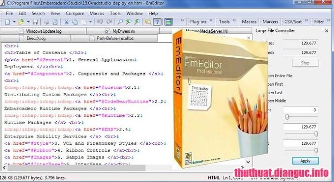 Download EmEditor Professional 18.0.3 Full Version – Công cụ hỗ trợ lập trình viên tốt nhất