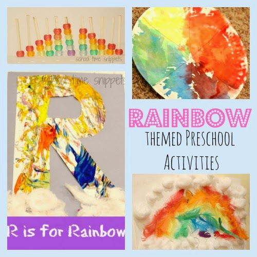 Preschool Rainbow Crafts and Learning Activities