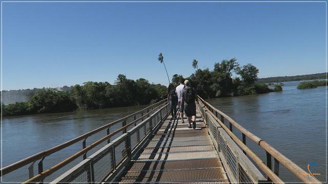 Passarela sobre o Rio Iguazú