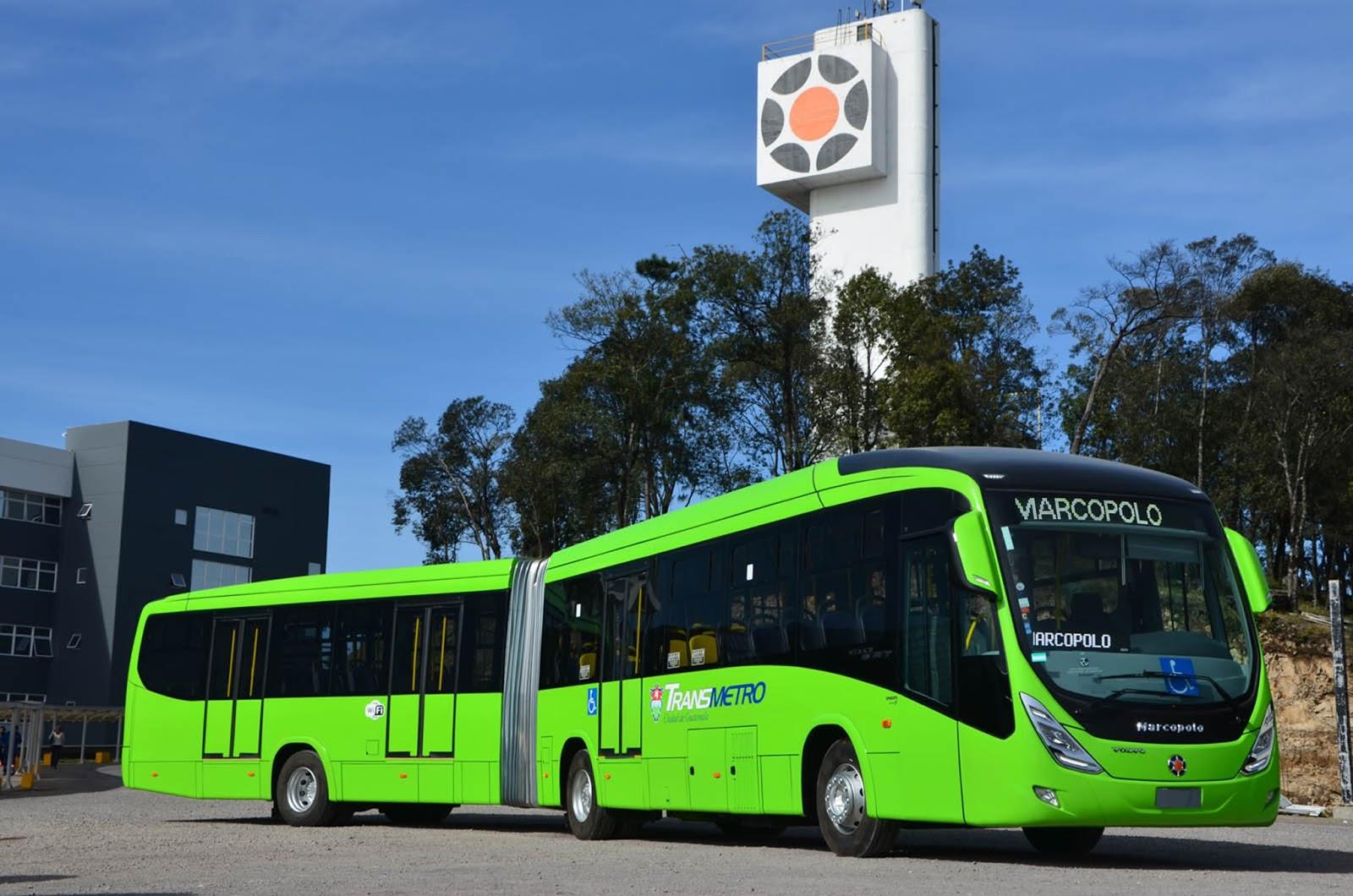 Marcopolo exporta 30 buses Viale BRT para el sistema de transporte ...