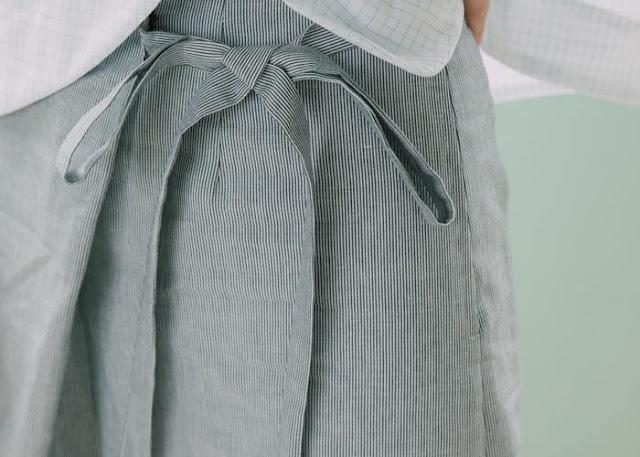 公路電影條紋綁帶褲裙 追加補貨