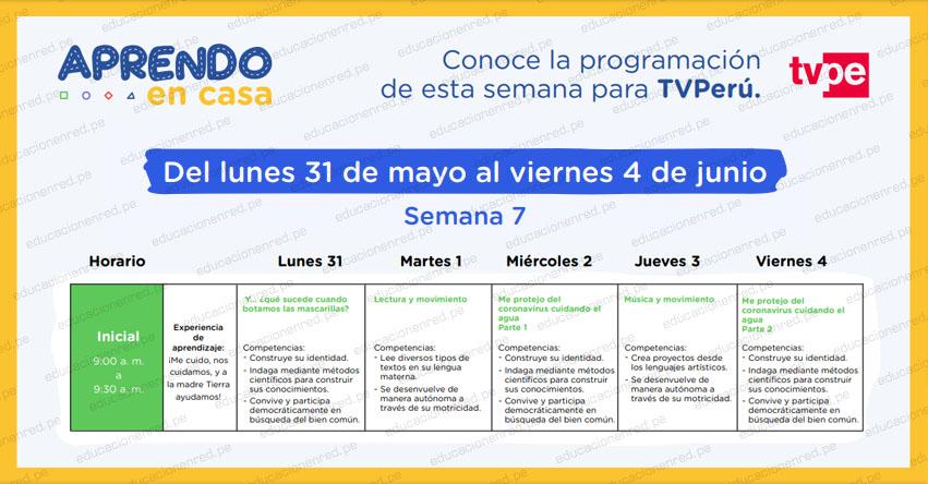 APRENDO EN CASA 2021: Programación del Lunes 31 de Mayo al Viernes 4 de Junio - MINEDU - TV Perú y Radio Nacional (ACTUALIZADO SEMANA 7) www.aprendoencasa.pe