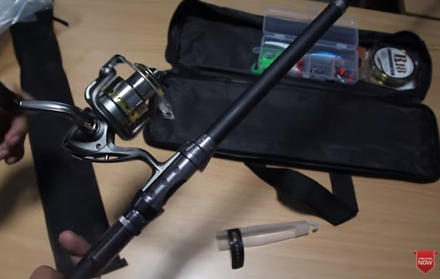 Unboxing Telescopic Fishing Rod and Reel Combo Full Kit