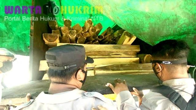 Belasan Kubik Kayu Sonokeling Illegal Diamankan Saat Nyeberang di Pelabuhan Poto Tano