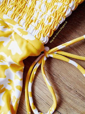 Yellow Fashion Side Tie Flower Print One Piece Swimsuit