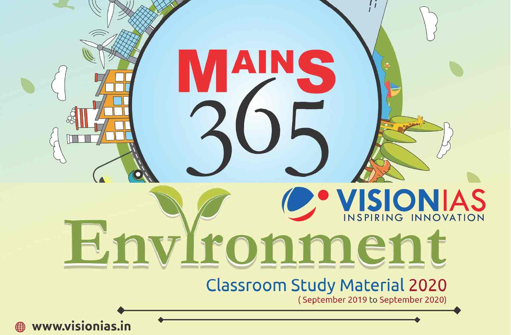 Vision IAS Mains 365 Environment 2020