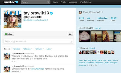 Twitter da Taylor Swift